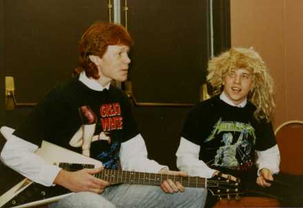 "Wylie High School's own personal 1990 version of the SNL characters that Dana Carvey and Kevin Nealon created, ""Hans and Franz."""