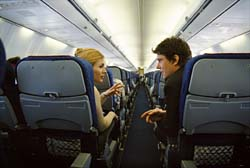 airline passengers talking