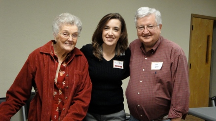 My mom and dad with me at a recent CenterPeace event.  Sure wish they could be with me today at Pepperdine!