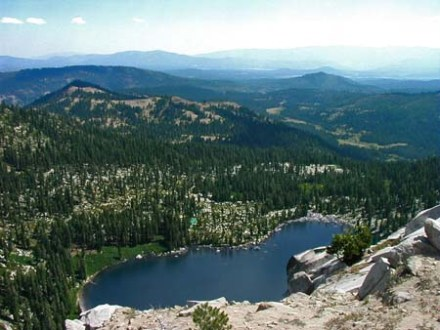 remote mountain lake