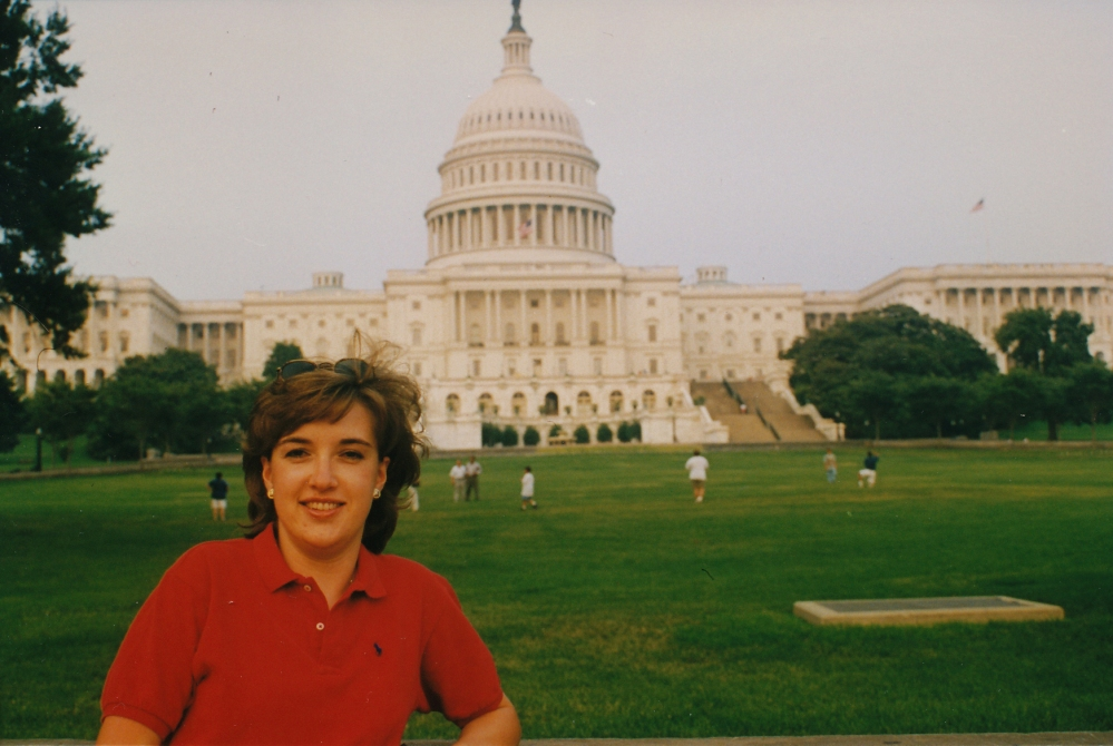 Sally in front of Capitol 97